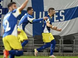 Valon Berisha sorgte für den ersten Punkt für den Kosovo