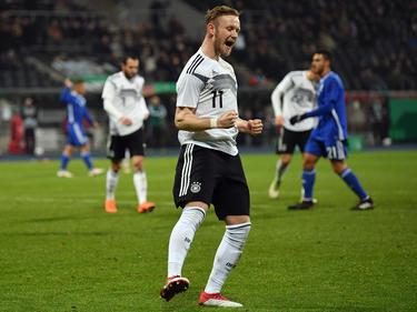 Cedric Teuchert stellte auf das zwischenzeitliche 2:0 für Deutschland