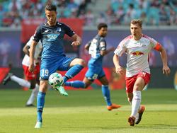 Hoffenheims Stürmer Mark Uth (l.) ist zweitbester Scorer der Bundesliga