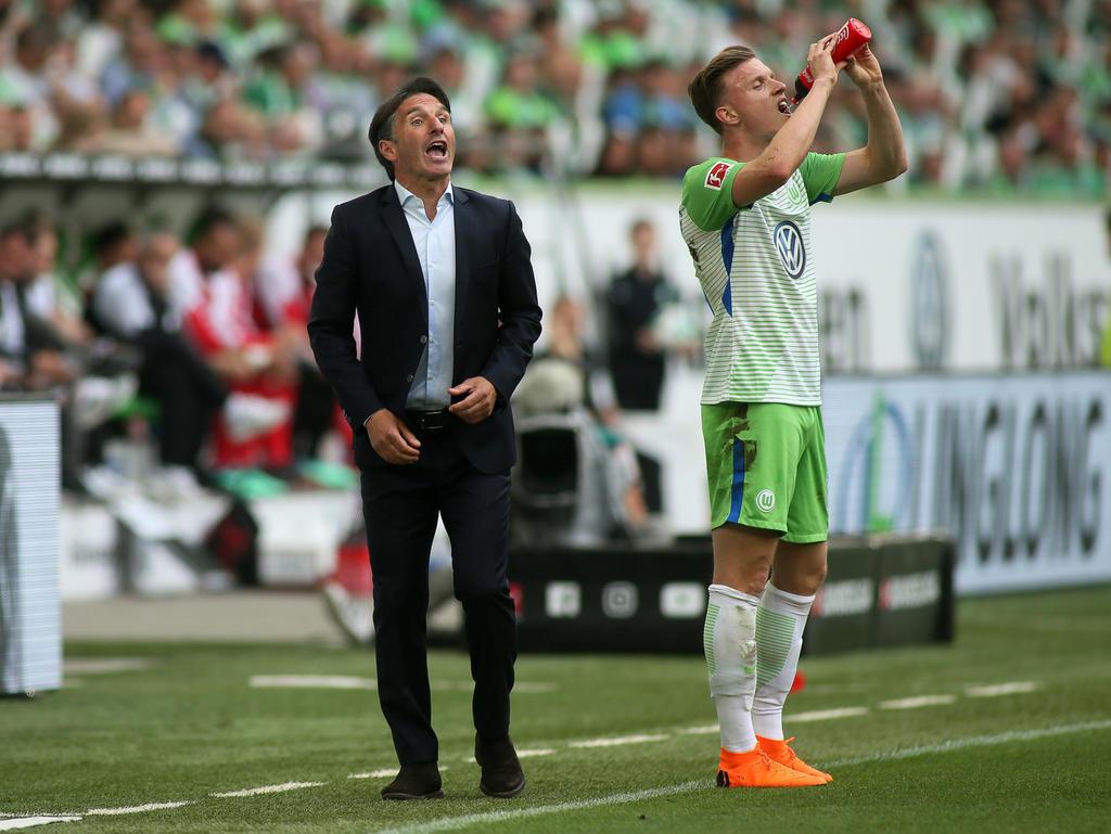 Bruno Labbadia will mit Wolfsburg am Montag den Klassenerhalt bejubeln