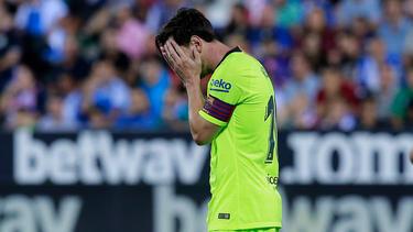 Messi kann es nicht glauben