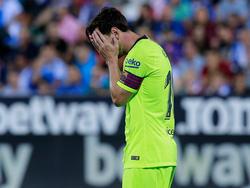Messi no pudo evitar la primera derrota de la temporada. (Foto: Getty)