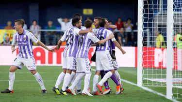 Los jugadores del Villarreal celebran la victoria en Castellón. (Foto: Imago)