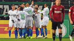 Der VfL Wolfsburg bejubelte einen Auswärtssieg in Hannover