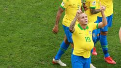 Everton feiert seinen Treffer gegen Peru