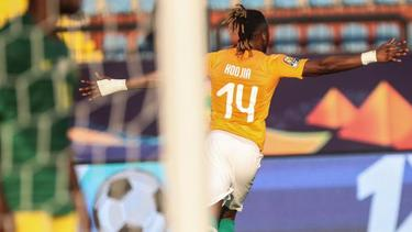 Jonathan Kodjia erzielte das Goldene Tor gegen Südafrika