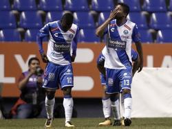 Christian Marrugo (dcha.) celebra su gol ante Gallos Blancos. (Foto: Imago)
