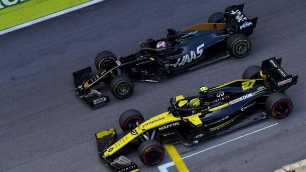 Am Start gerät Haas-Pilot Romain Grosjean oftmals ins Hintertreffen