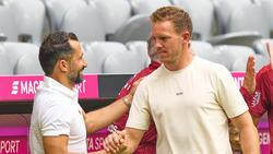 Sportvorstand Hasan Salihamzidic (li.) will den FC Bayern langfristig aufrüsten