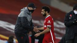 Erfolgsgespann beim FC Liverpool: Jürgen Klopp (l.) und Mohamed Salah
