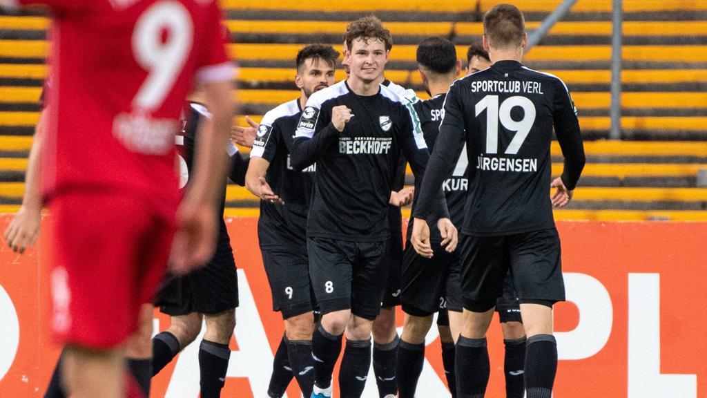 Verl hat das Auswärtsspiel bei Türkgücü gedreht