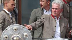 Jupp Heynckes (r.) gewann 2018 mit dem FC Bayern die Meisterschaft
