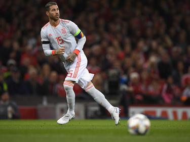 Sergio Ramos en un lance del duelo contra Gales. (Foto: Getty)