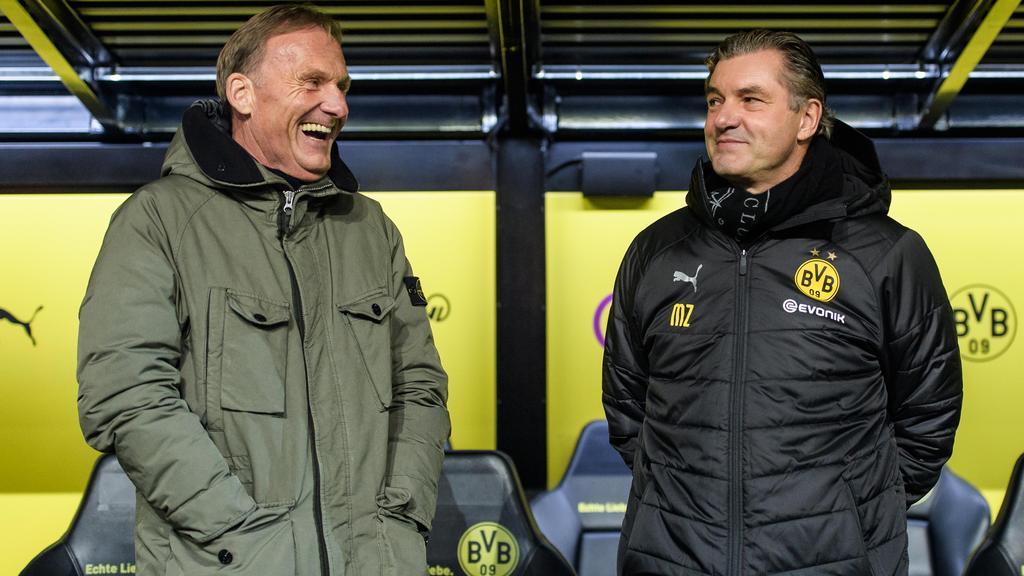 Väter des Erfolgs beim BVB: Hans-Joachim Watzke (l.) und Michael Zorc