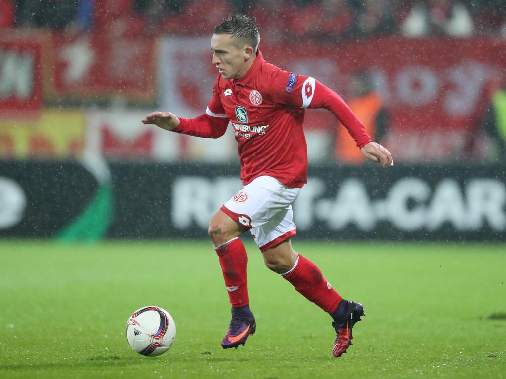 Pablo de Blasis vom 1. FSV Mainz 05 stößt erst später zur Mannschaft dazu