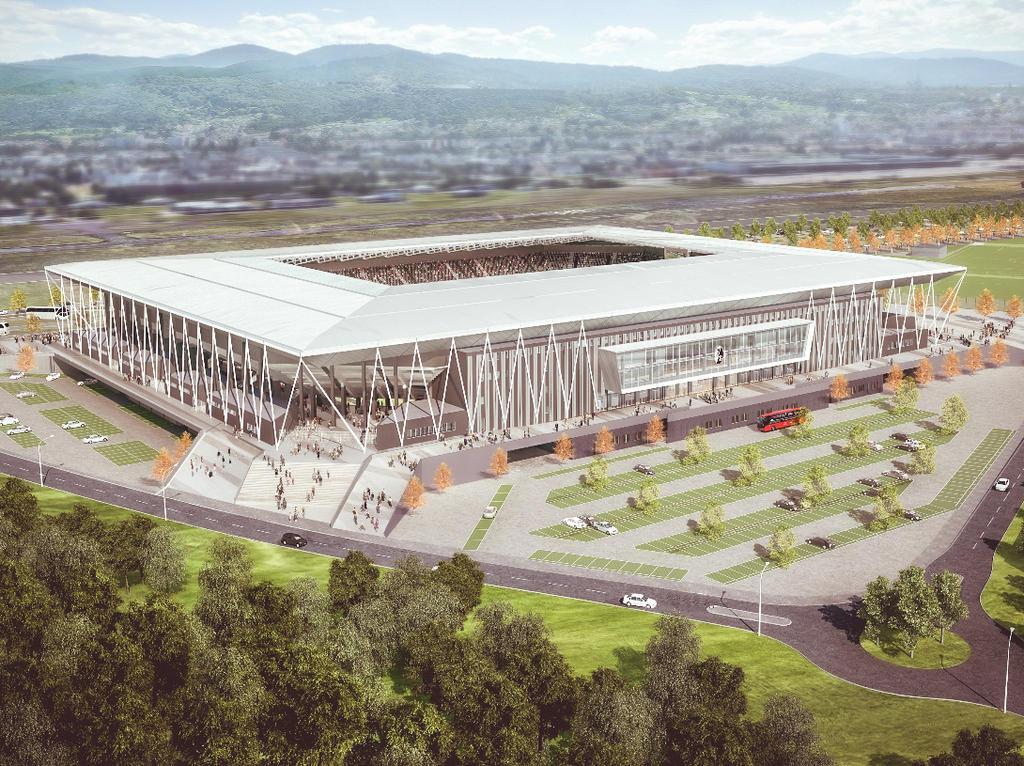 Der Entwurf des neuen Stadion des SC Freiburg. Foto:WillMore