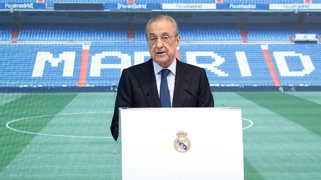 Florentino Pérez ist Präsident von Real Madrid Vorsitzender der Super League