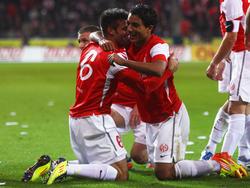 Sami Allagui freut sich über einen Treffer
