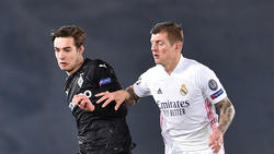 Trafen in der Champions League aufeinander: Gladbachs Florian Neuhaus und Real Madrids Toni Kroos