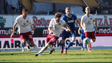 Der 1. FC Nürnberg bezwingt den KSC