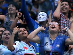 Los seguidores del Emelec aún tienen que esperar para ver ganar a su equipo. (Foto: Imago)