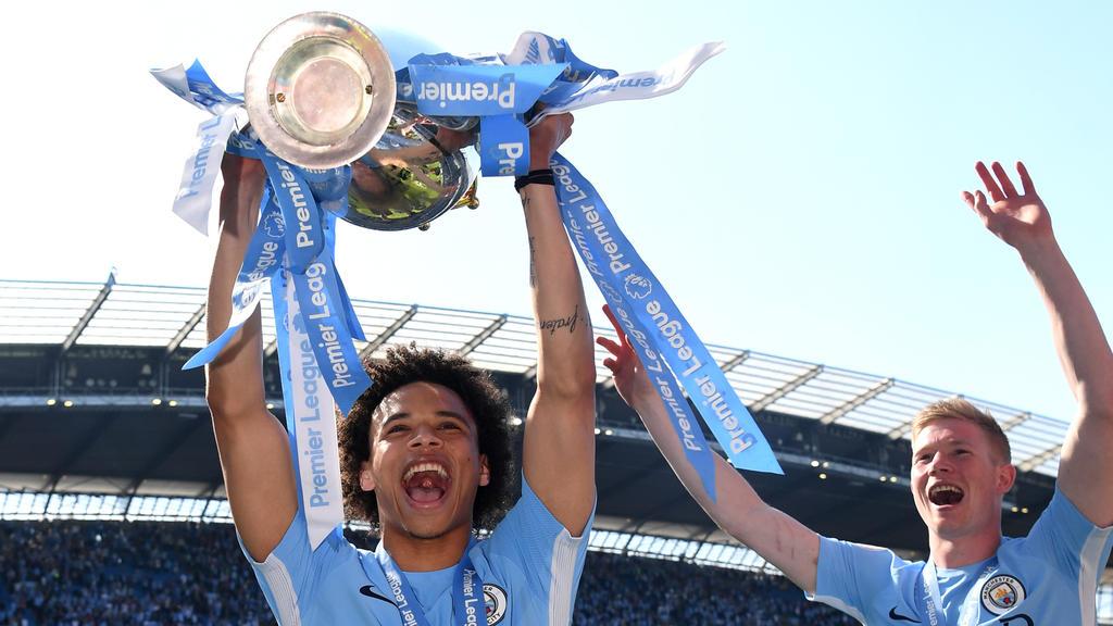 Leroy Sané gewann mit City die Meisterschaft in der Premier League