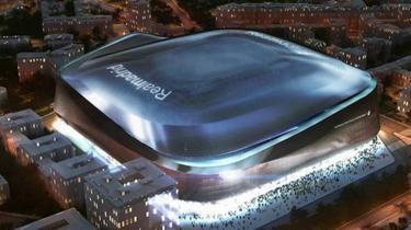 So soll das Santiago Bernabéu nach dem Umbau aussehen (Foto: Twitter)