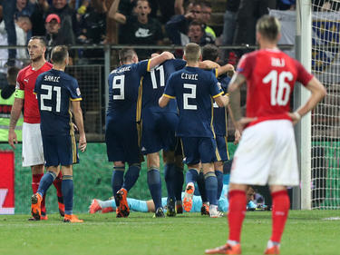 Hängende Köpfe bei den ÖFB-Spielern in Zenica