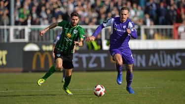 Der SC Preußen Münster spielte 0:0 gegen den VfL Osnabrück