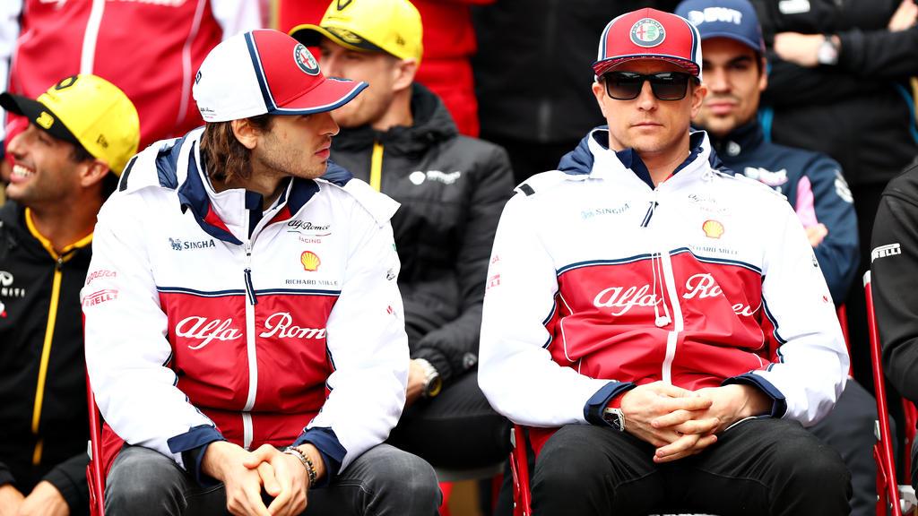 Antonio Giovinazzi freut sich, Kimi Räikkönen an seiner Seite zu haben