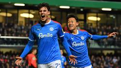 Holstein Kiel bejubelte einen 6:3-Sieg bei Wehen Wiesbaden