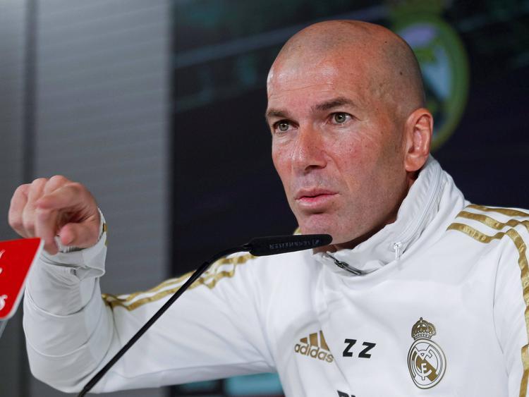 Zidane en la rueda de prensa de hace unos minutos.