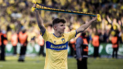 Lindström feierte mit Bröndby den Gewinn der dänischen Meisterschaft