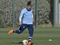 Martín Cáceres en un entrenamiento con el Lazio. (Foto: Getty)