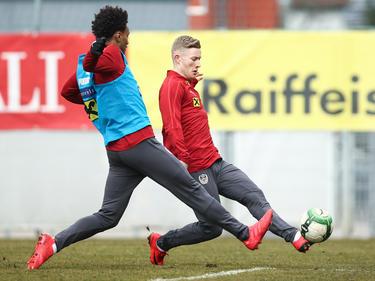 Valentino Lazaro und Florian Kainz müssen sich über das Training für Nationalteameinsätze empfehlen