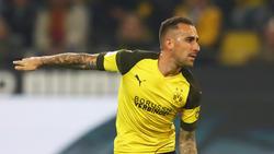 Paco Alcácer hatte nach seinem Traumstart in der Bundesliga Probleme mit dem Oberschenkel