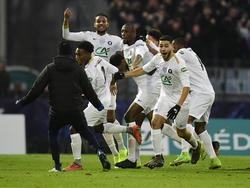 Los jugadores del Entente Sannois Saint-Gratien celebran el gol. (Foto: Imago)