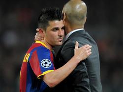David Villa lobt Pep Guardiola als besten Trainer seiner Karriere