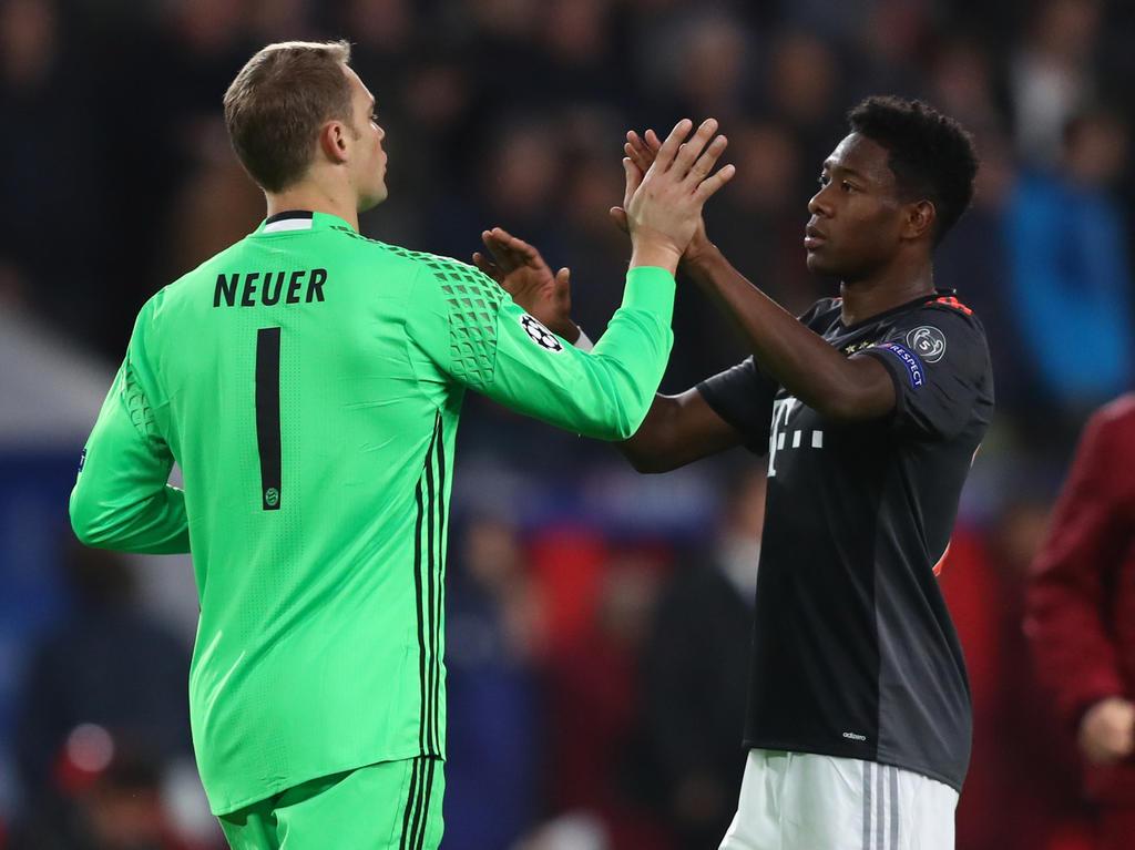 Manuel Neuer und David Alaba sind wieder im Training
