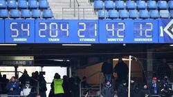Ist Geschichte: Die HSV-Stadionuhr