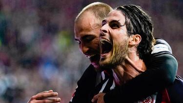 Garanten für den Eintracht-Erfolg: Bas Dost (hinten) und Goncalo Paciencia