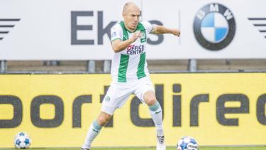 Nach seinem Abschied vom FC Bayern nun für den FC Groningen am Ball: Arjen Robben