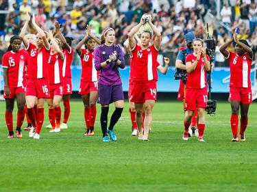 Canadá firmó su progreso a cuartos de final de los Juegos Olímpicos. (Foto: Getty)