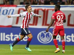 Brizuela marcó el único gol del partido. (Foto: Getty)