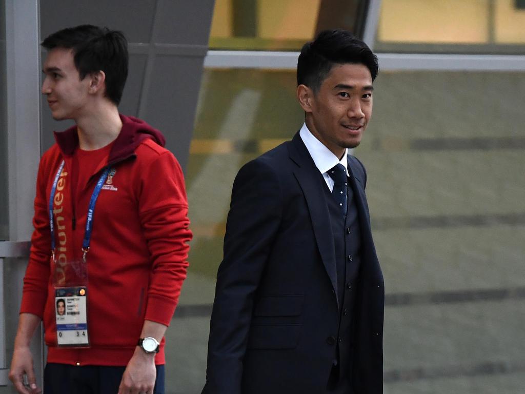 Borussia Dortmunds Shinji Kagawa ist mit der japanischen Auswahl in Russland angekommen