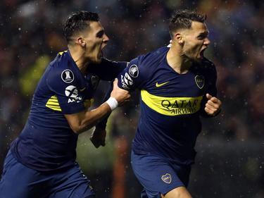Zárate celebra su tanto a Libertad en la Libertadores. (Foto: Imago)