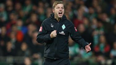 Steckt erstmals mit Bremen in einer Krise: Trainer Florian Kohfeldt