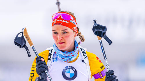 Denise Herrmann leistete sich zu viele Schießfehler