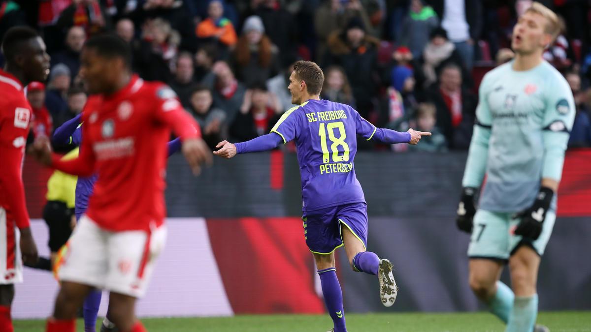 Nils Petersen ist mit seinem 84. Treffer für Freiburg zum Rekordtorschützen des Vereins geworden