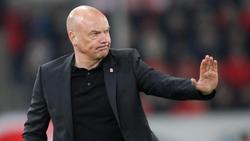 Düsseldorfs Trainer Uwe Rösler will mit seinem Team gegen die Hertha punkten